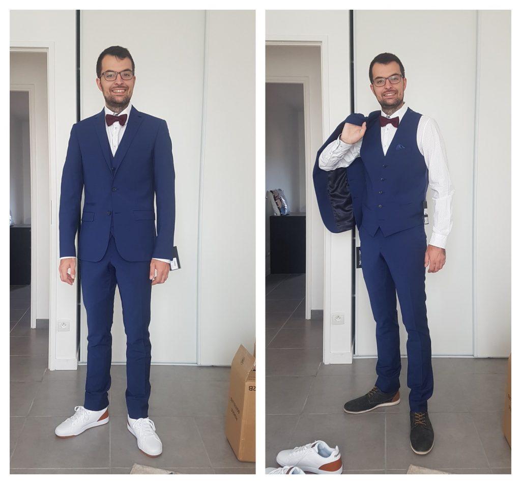 Chaussures avec un costume de marié
