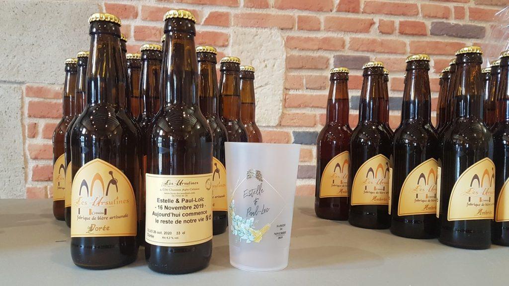 Bières artisanales avec étiquette personnalisée