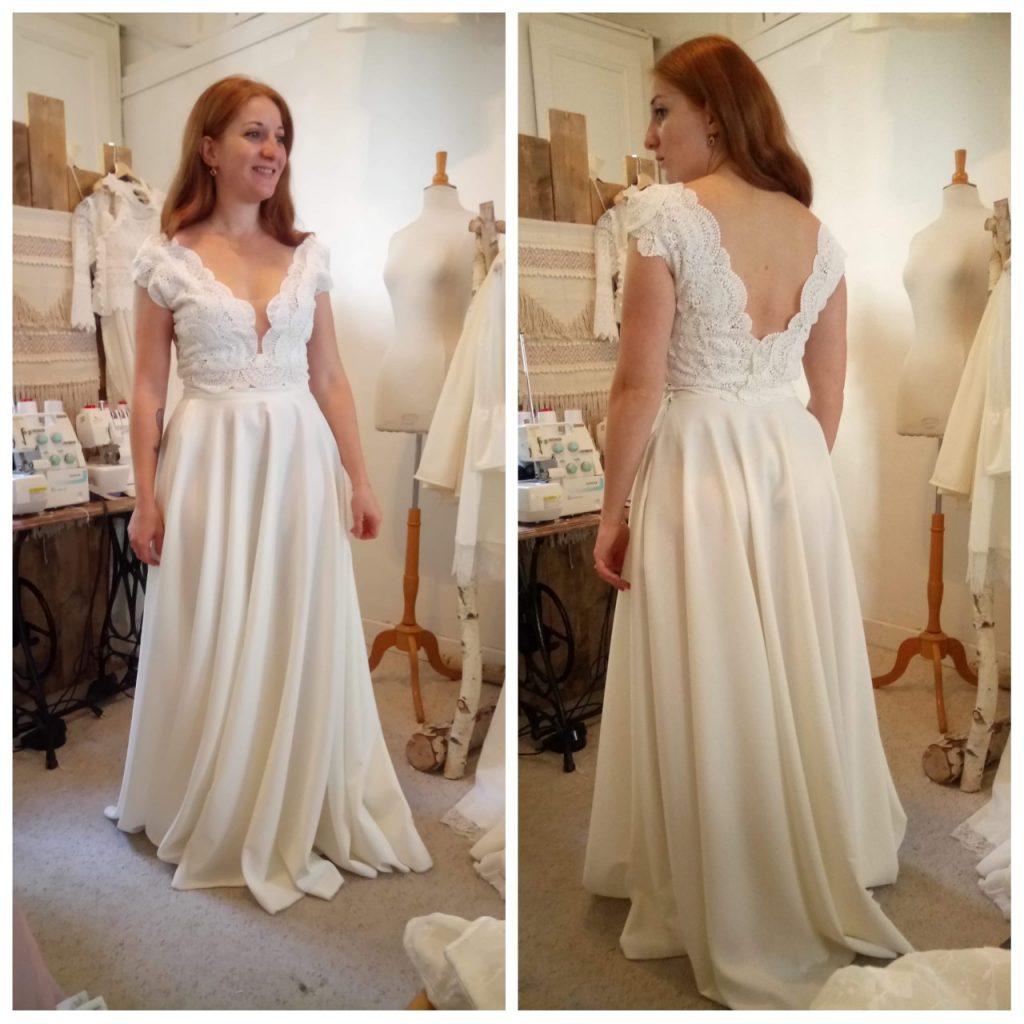 Les essayages pour ma robe sur mesure