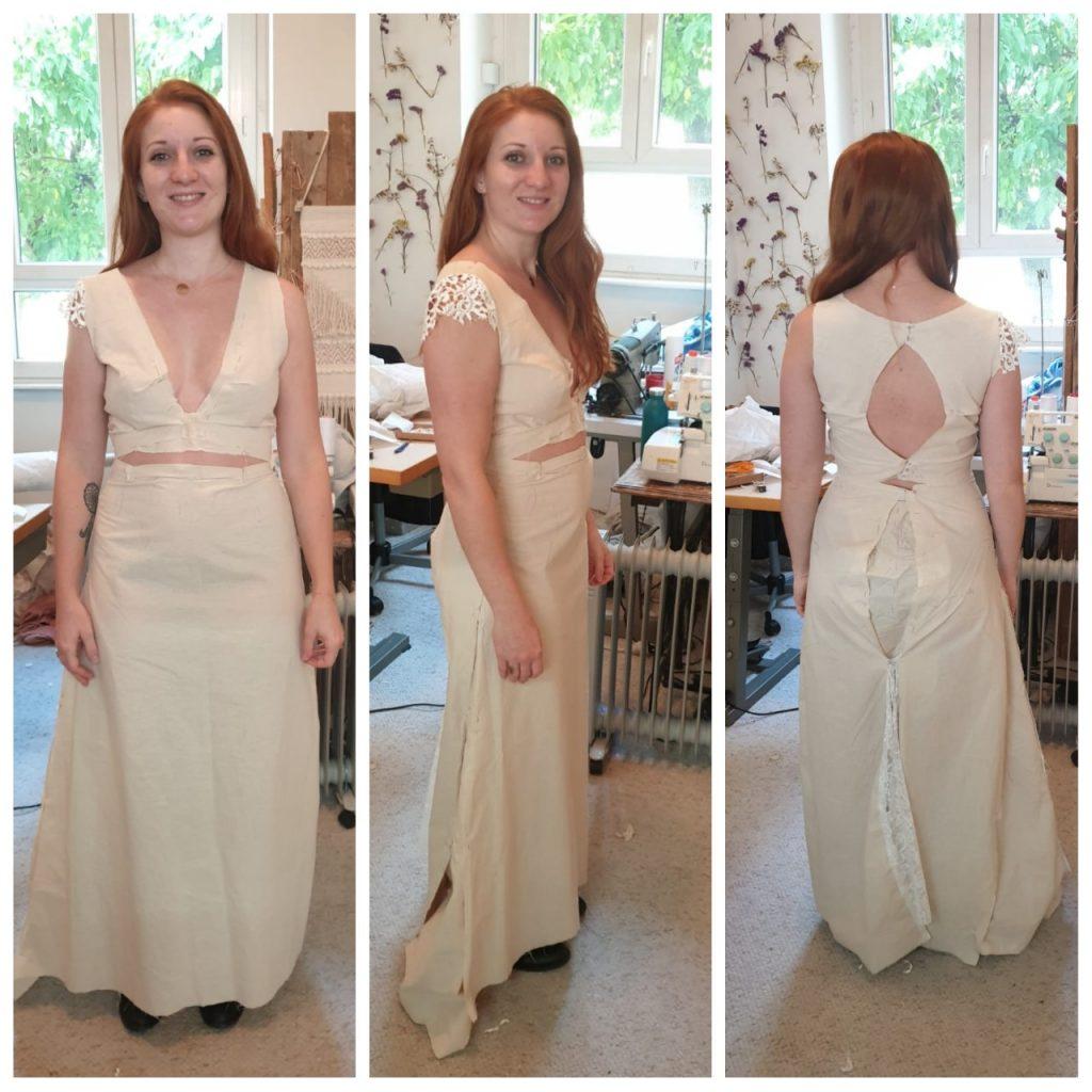 Ma robe de mariée sur-mesure... à partir de la dentelle de la robe du mariage de ma maman !
