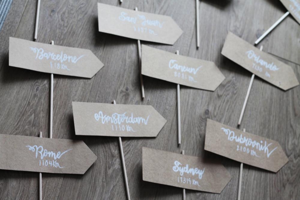 Mes DIY faciles pour un mariage : les pancartes directionnelles