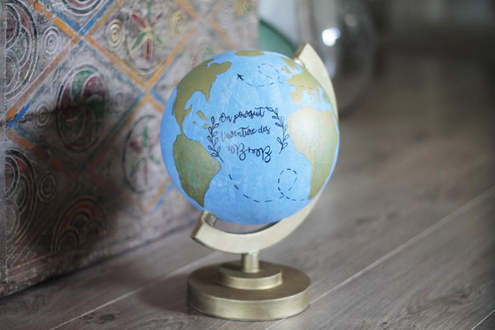 Mes DIY faciles pour un mariage : l'urne en forme de globe