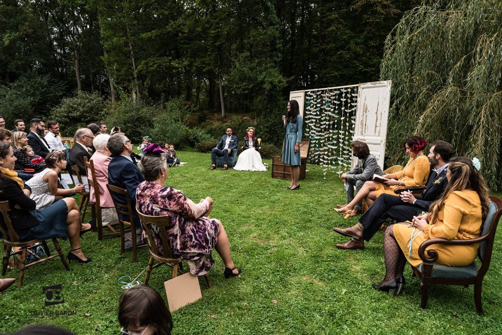 Déroulé de notre cérémonie laïque en extérieur // Photo : Olivier Baron