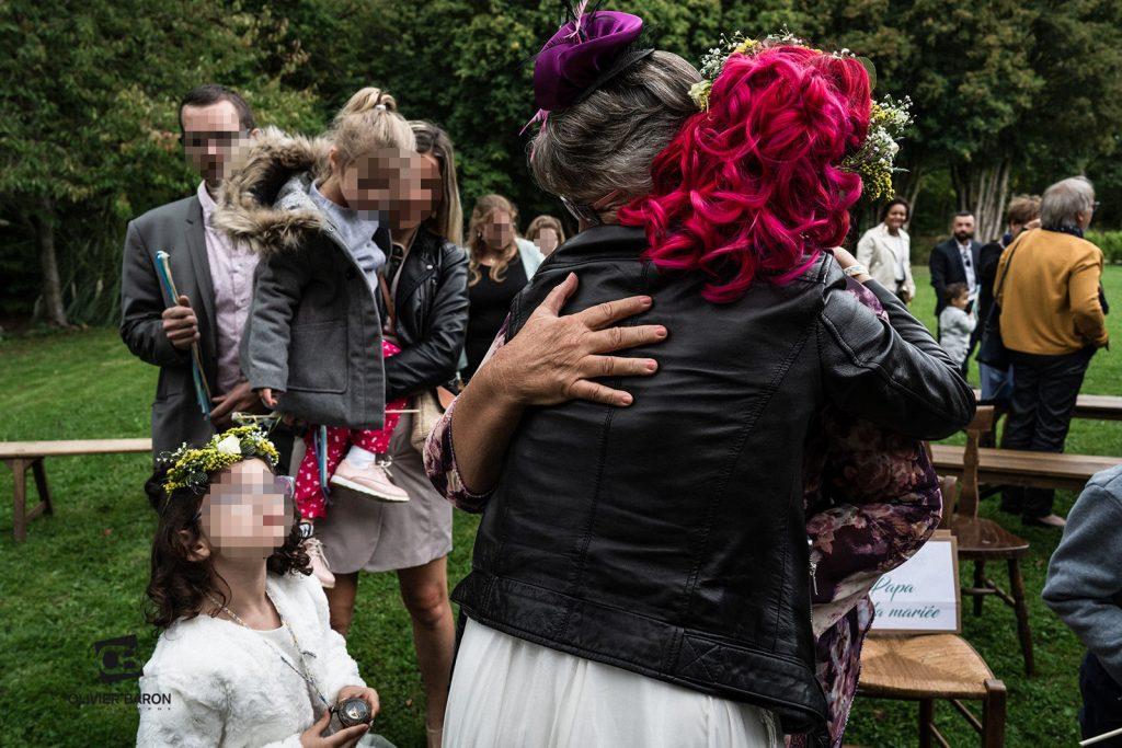 Les échanges de vœux pendant la cérémonie laïque