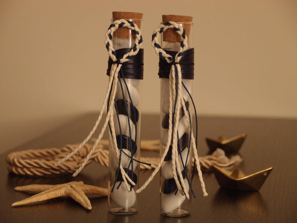 Idée pour mes cadeaux d'invités au mariage : des dragées... inspiration marine !!