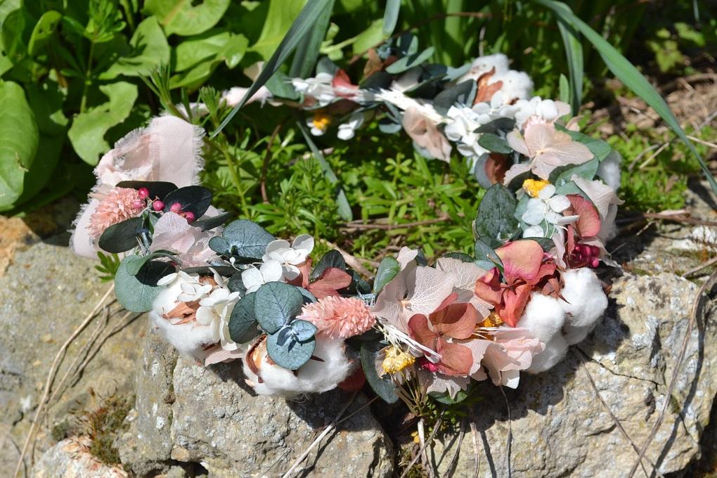 Les accessoires de ma tenue du mariage : ma couronne de fleurs
