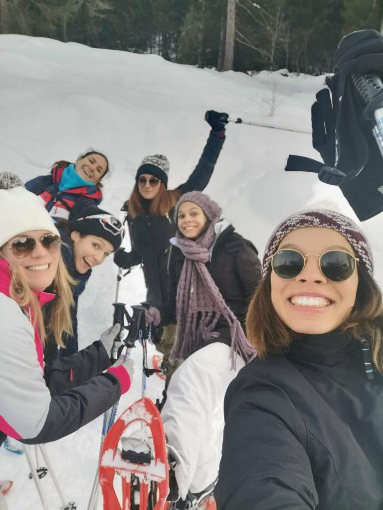 Mon EVJF à Chamonix : sortie en raquettes