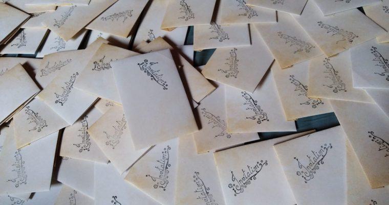 Le faire-part : DIY, origami et concert d'Angèle