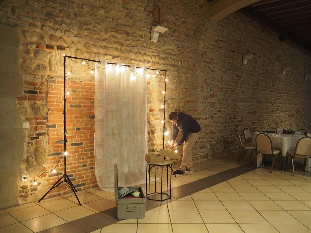 Installation du photobooth de mariage