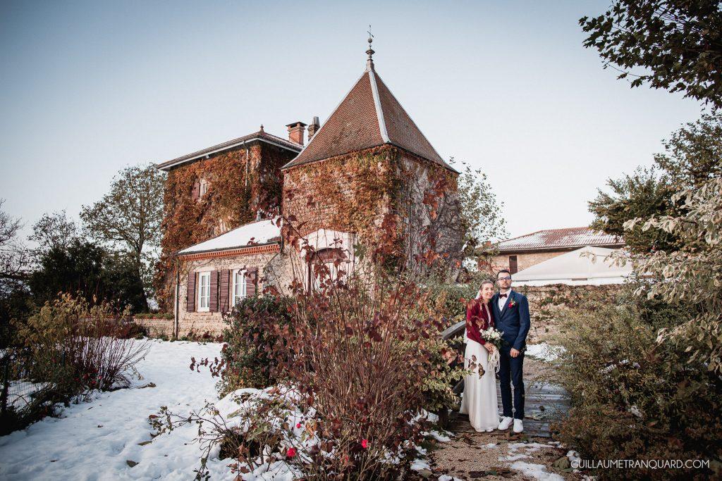 Mariés d'hiver au domaine de Grand Maison
