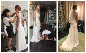 Essayages retouches de la robe de mariée