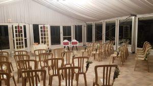 Salle de cérémonie laïque en hiver