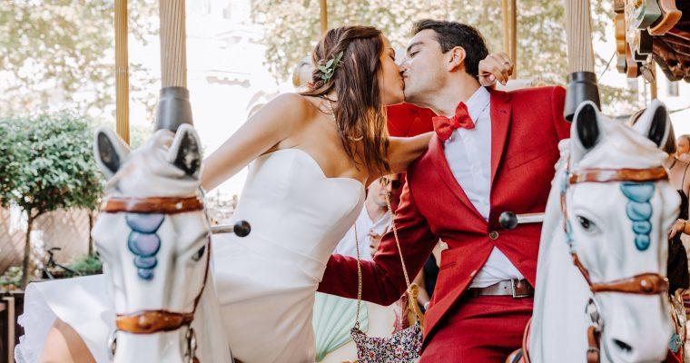 Mon mariage civil à Avignon : la pression redescend, carrousel, photos de couple et paella