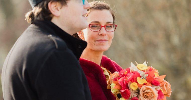 Mon chaleureux mariage au cœur de l'hiver : les photos à deux, voire quatre