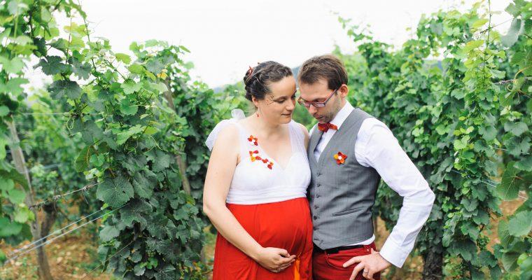Mon mariage multicolore et enceinte au cœur du vignoble alsacien : le grand jour