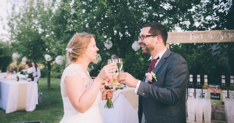 Mon mariage champêtre à paillettes : le cocktail