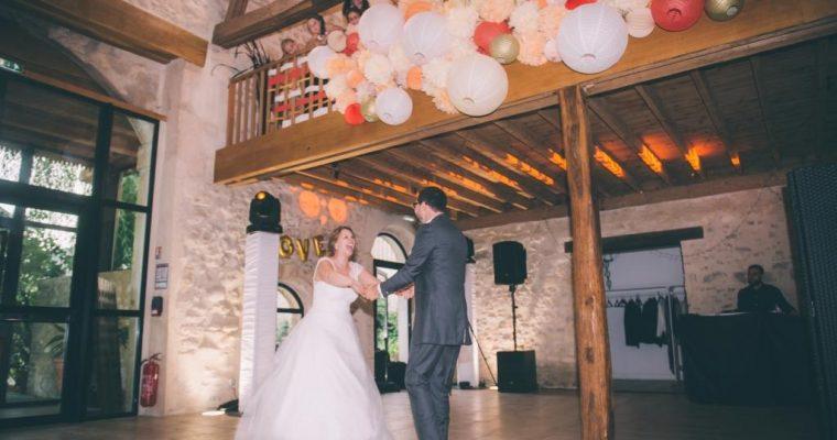 Mon mariage champêtre à paillettes : notre entrée dans la salle