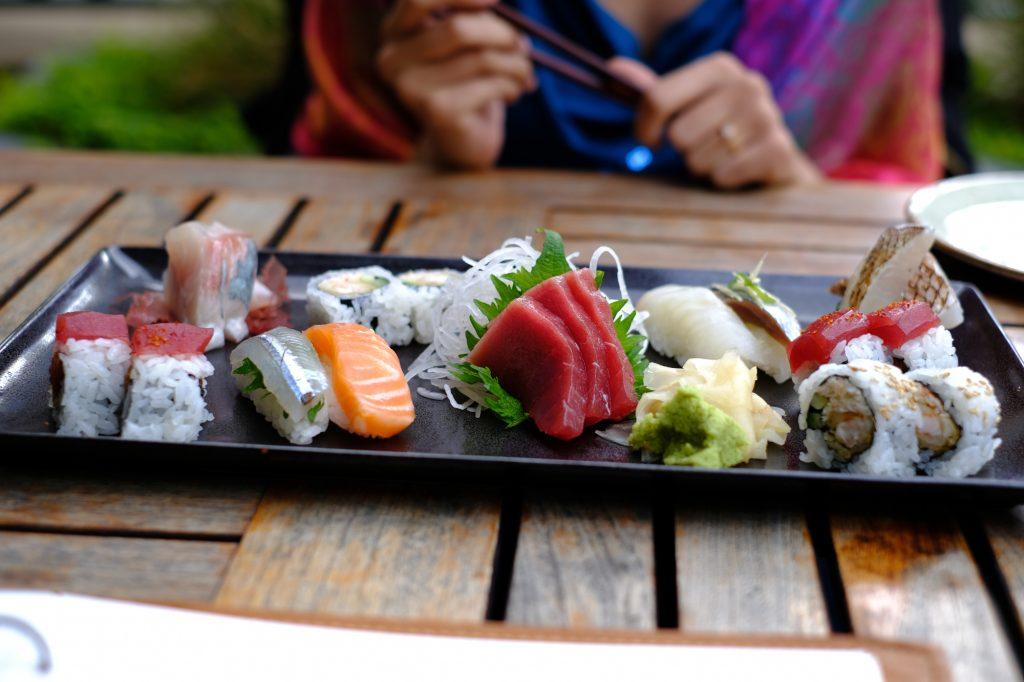 Les sushis qui ont accompagné la montre de fiançailles de Monsieur Pragmatique - Crédit photo : Monsieur Pragmatique