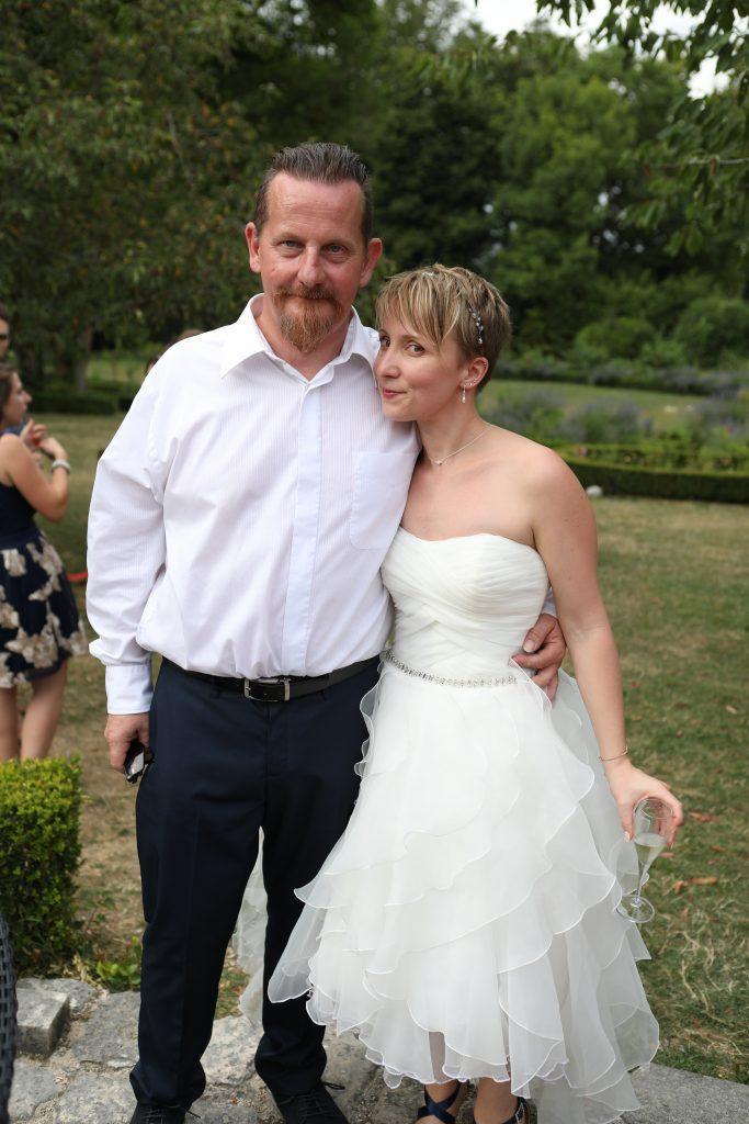 mariée et papa