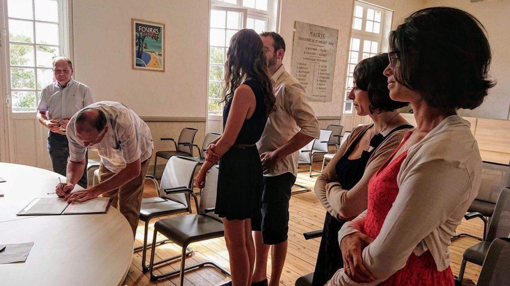 Mon mariage civil en petit comité et simplicité