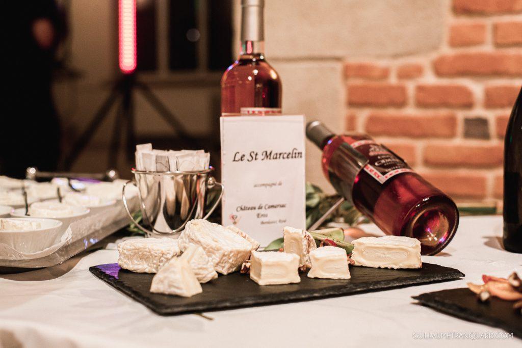 Accord fromage vin au repas de mariage