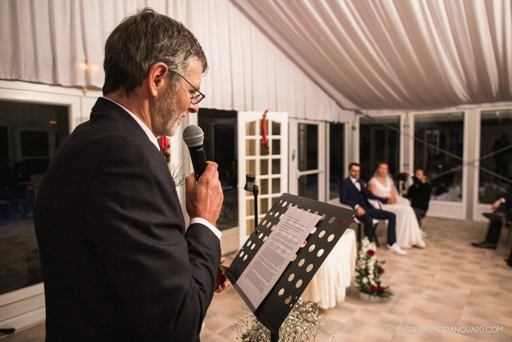 Discours du beau-père à la cérémonie laïque