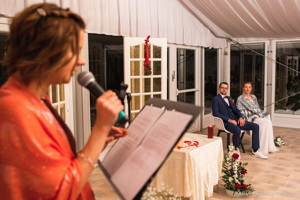 Discours de la témoin à la cérémonie laïque