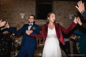 Entrée des mariés dans la salle du repas