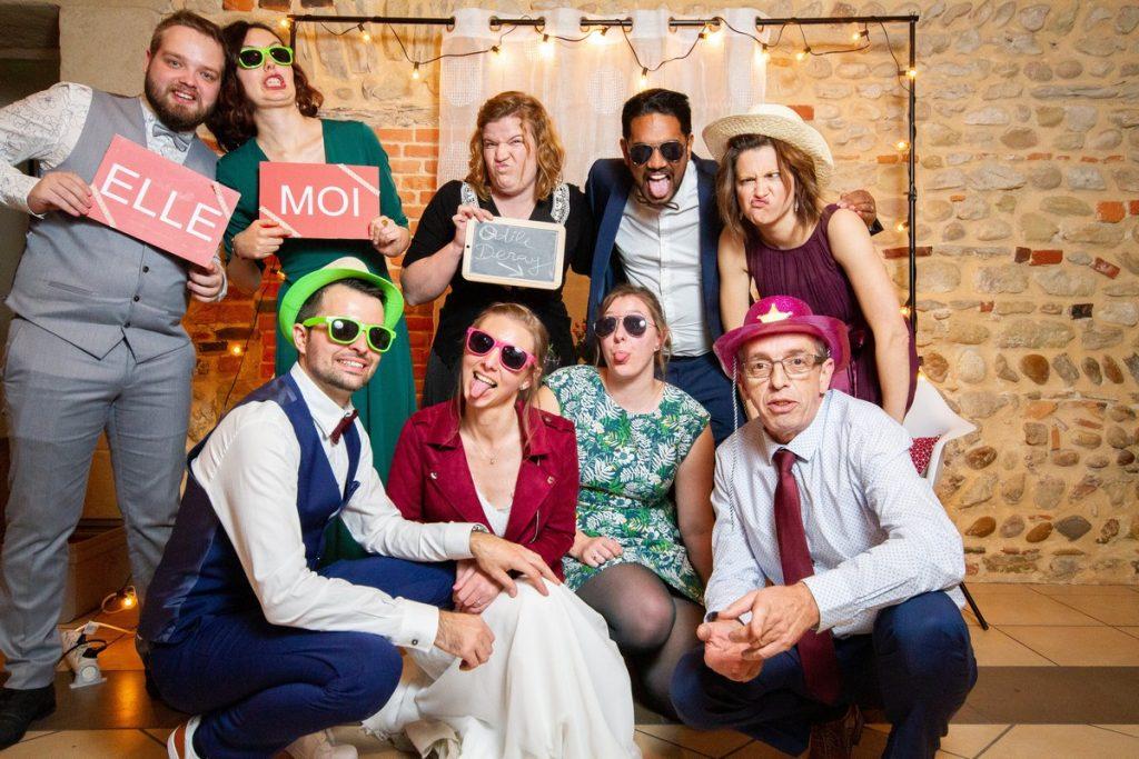 Photo de groupe sur le photobooth
