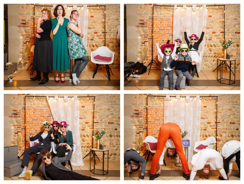 Photos des invités sur le photobooth