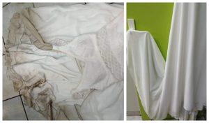 Robe de mariée avant et après le pressing